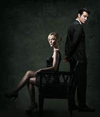 "ABC's ""Red Widow"" stars Radha Mitchell as Marta Walraven and Goran Visnjic as Nicholae Schiller."