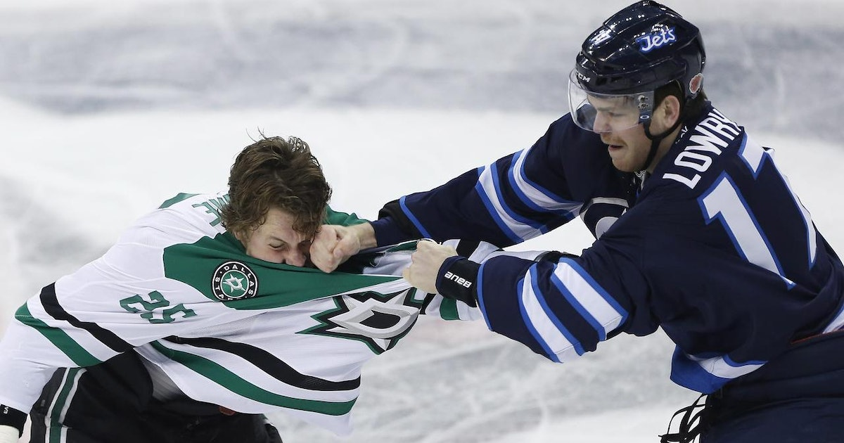 Laine nets three as jets punch out stars ap denton for What does punch out mean in construction