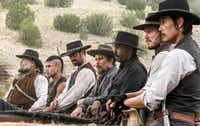 """A star-studded cast of rugged cowboys defend a town against a power-hungry outlaw in """"The Magnificent Seven.""""Scott Garfield"""