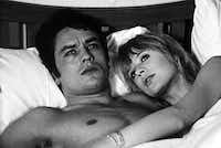 Alain Delon and Marianne Faithfull star in Jack Cardiff's Girl on a Motorcycle. The 1968 film stars Faithfull as the terminally bored wife of an Alsatian grade-school teacher who finds release through a motorcycle given to her as a wedding present by her lover.