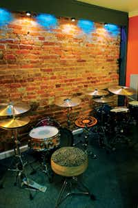 The (Ghost) Note features a sound-proof isolation room for drum lessons and testing out drums.David Minton/DRC