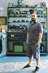 Armand Kohandani opened Denton Camera Exchange last month at the old Yarbrough's Pharmacy building on Piner Street.David Minton - DRC