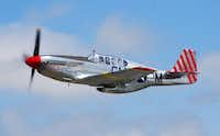 A P-51 Mustang fighter is part of the national Wings of Freedom Tour, scheduled to arrive at noon Monday at Denton Airport.Collings Foundation