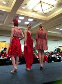 Models show off designs from Texas Woman's University and University of North Texas students.Britney Tabor - DRC