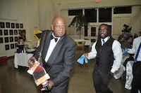 Jay B, of Jay B and The Zydeco Posse, with Arthur ColemanDonald Thomas - Courtesy photo