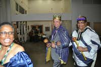 Mardi Gras Ball King Daniel Caldwell, middle, and Queen Margaret Simmons, rightDonald Thomas - Courtesy photo