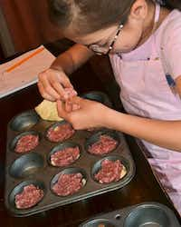 Jianna Garcia puts her culinary skills into practice.