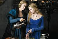 "Rebecca Ferguson, right, stars as the commoner who becomes Queen Elizabeth, while Janet McTeer plays her mother in ""The White Queen."" The Starz series is coming to DVD this week.Starz"