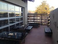 Chef Tim Love's new restaurant, Queenie's Steakhouse, features an outdoor patio. The restaurant opens April 4.Courtesy photo