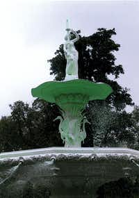 "The ""greening"" of the fountain in Forsyth Park in Savannah, Ga., takes place in March. The fountain is known for its appearance in the movie ""Midnight in the Garden of Good and Evil.""Jim Stodola - Courtesy photo"