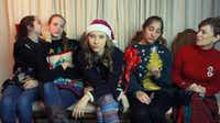 "This image from the ""Royals Christmas Parody"" video features singer-songwriter and University of North Texas student Kayley Walker, center.John D. Harden - DRC"